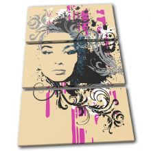 Abstract Girl Design Fashion - 13-1897(00B)-TR32-PO